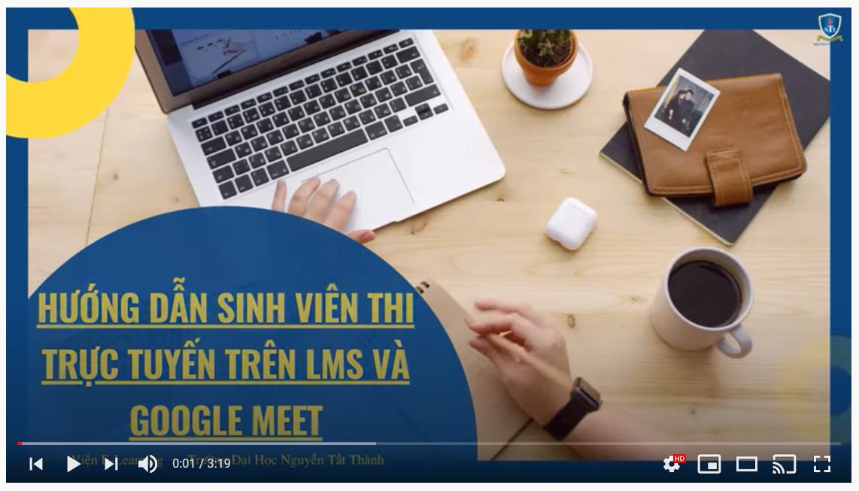 NTTU - Hướng dẫn sinh viên thi trực tuyến theo quy chế mới