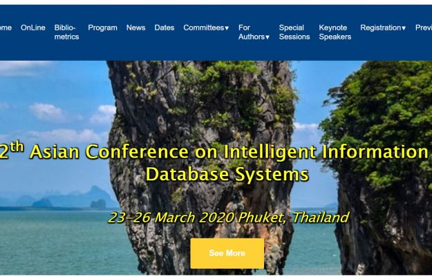 12th Asian Conference on Intelligent Information and Database Systems 23-26 March 2020 Phuket, Thailand