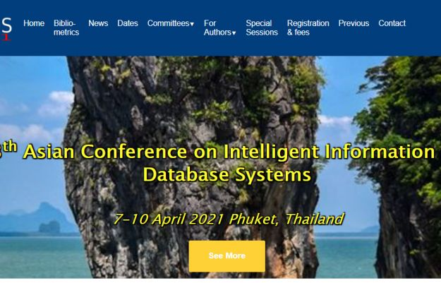 13th Asian Conference on Intelligent Information and Database Systems 7-10 April 2021 Phuket, Thailand